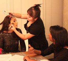 Official make up artist for celebrity wedding ; Lisa S