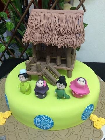 Balik kampung theme Cake