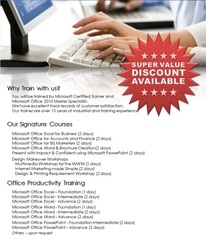 Microsoft Office Training and services