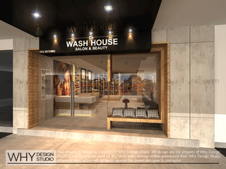 Medium de wash house salon front facade