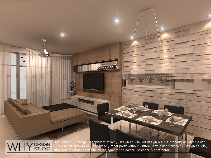 Terrace House Living Room Design Malaysia