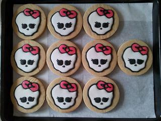 Monster Hi logo icing cookies