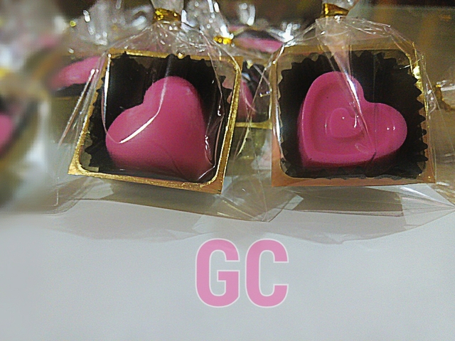 PInk heart shaped chocolate for Chinese Wedding-Tea Ceremony