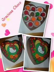 XL sized 3D heart shaped with edible image