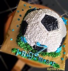 2D Football birthday cake