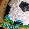 2D Football birthday cake