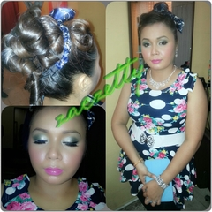 Annual Dinner-makeup/hairdo by me