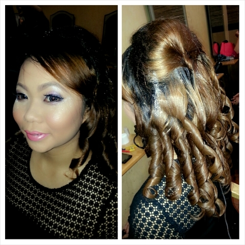 makeup/hairdo by me