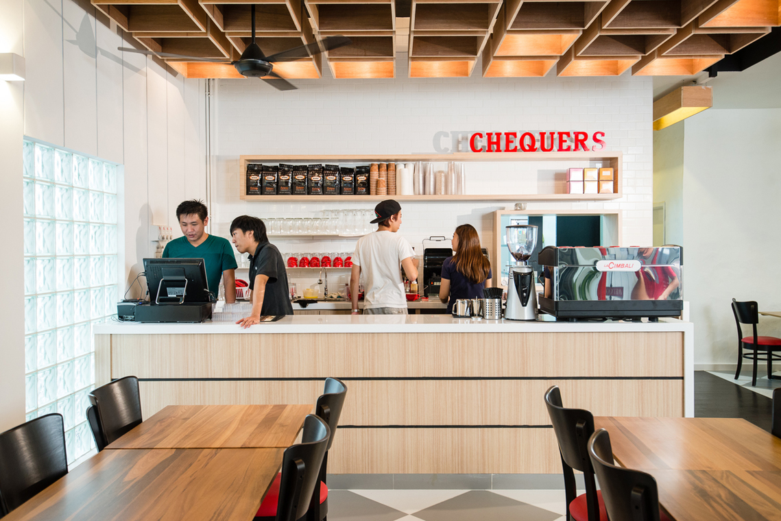 Project- Chequers, TTDI, Kuala Lumpur by Pocket Square - Kuala Lumpur Completed Flooring Paint Ceiling Carpentry 1200 - 1800 sqft Staircase Dining Modern Retro Shop / Retail / F&B - Recommend.my