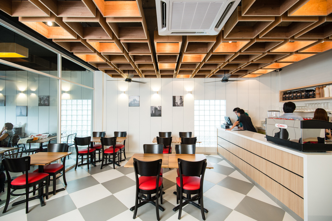 Project- Chequers, TTDI, Kuala Lumpur by Pocket Square - Completed Flooring Paint Ceiling Carpentry 1200 - 1800 sqft Staircase Dining Modern Retro Shop / Retail / F&B - Recommend.my