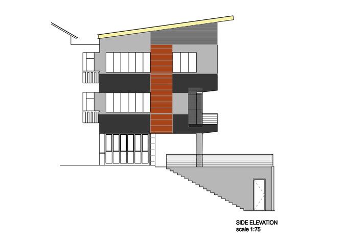 side elevstion of the house