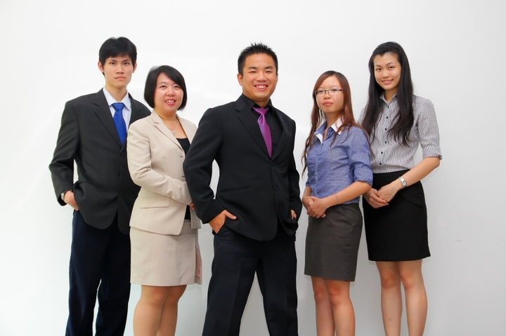 Our team in formal dress code.