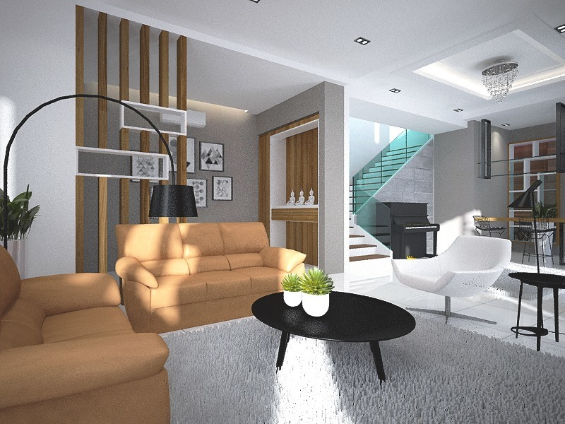 Main Services by Five Element Design Concept - Completed Concept Ideas Inspirations Bathroom Living Dining Kitchen Bedroom Balcony Living Room Bilik Mandi Bilik Tidur Small Kitchen Storage Space 3D Design TV Cabinet / Console Wardrobe Stairs Staircase Kitchen Island - Recommend.my
