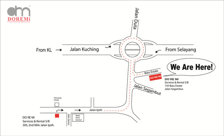 DoReMi Location Map @ Segambut & Jalan Ipoh