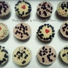 Double Chocolate Cupcakes with Vanilla Buttercream & Choc Chip Topping