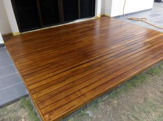 Chengal outdoor decking