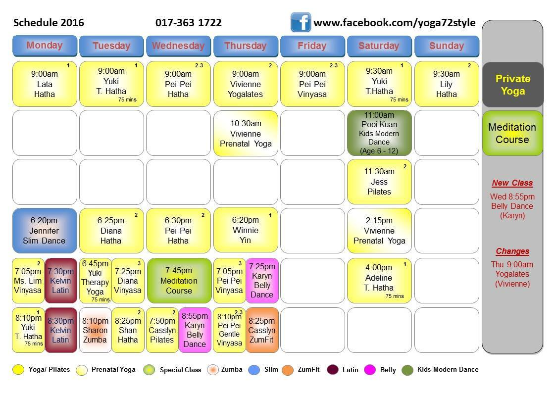 72 Yoga Styles Studio