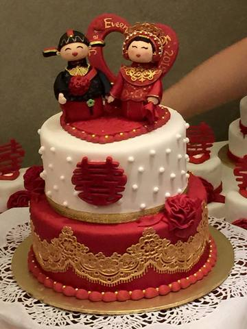 Customised Wedding Cake (Chinese Tradition Theme Cake)