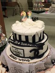 Customized Birthday Cake (Chanel Theme)
