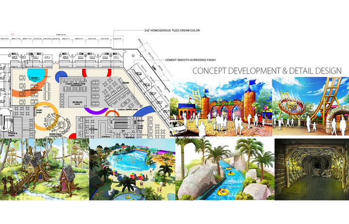 Water Park & Theme Park Planning & Drawing
