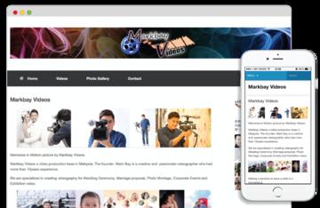 Medium business web design sample