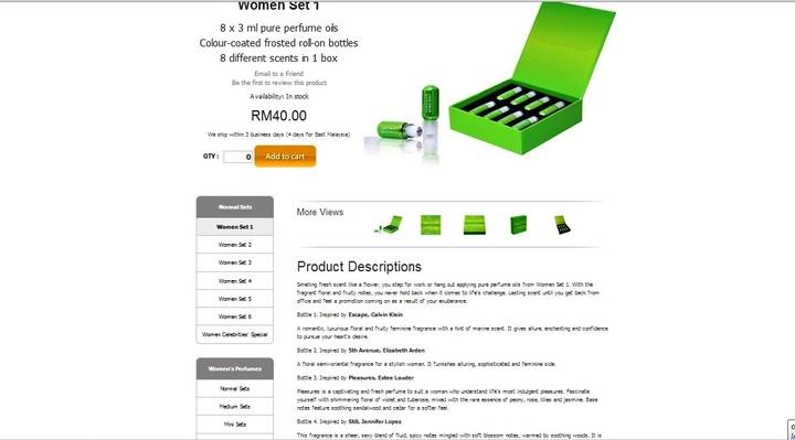 Commerce product description
