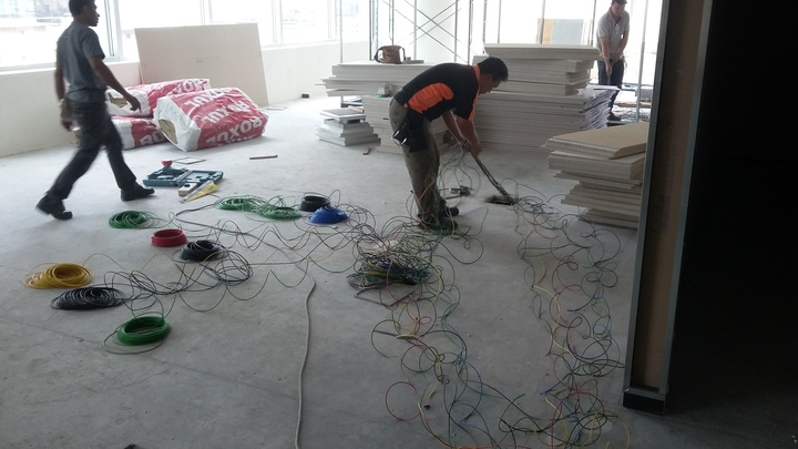 WIRING WORK IN MID VALLEY OFFICE TOWER