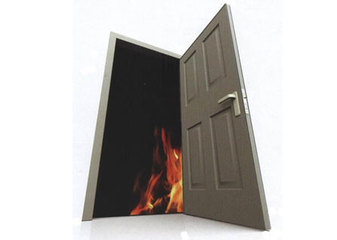 Fire Rated Door - Manufactured to suit timber or metal frame and is tested and approved by MS 1073, Part 3: 1996