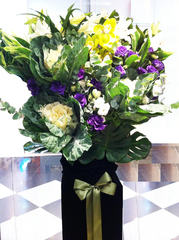 Casablanca Lilies with Brassica