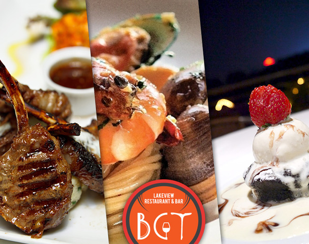 From left to right: KimYang Lamb Cutlets; Signature Seafood Aglio Olio; Henry's Chocolate Mudcake