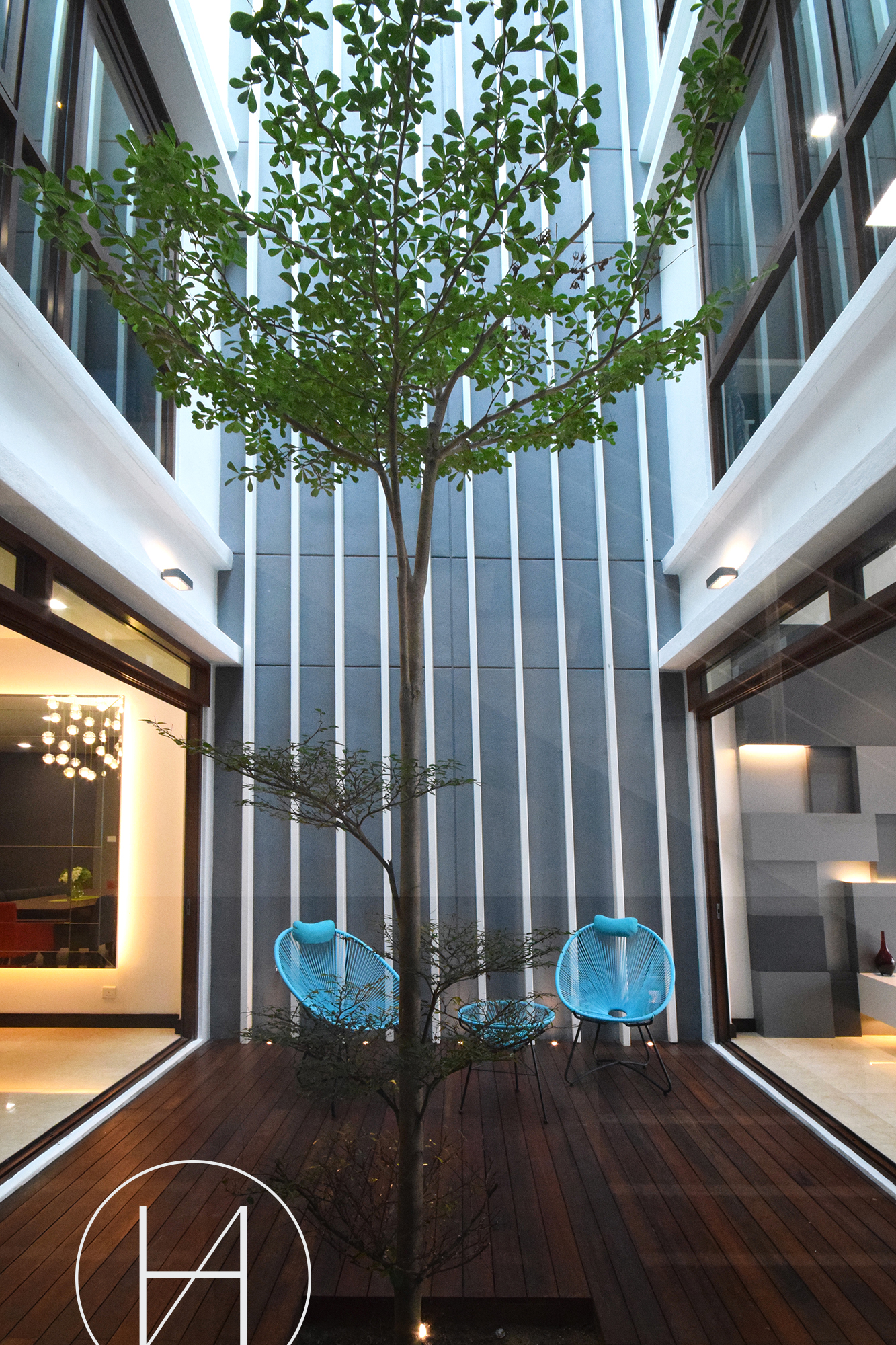 Resident - Kiara View, Mont Kiara by Hatch Interior Studio Sdn Bhd - Kuala Lumpur Semi-D / Bungalow Kitchen Living Living Room Dining Garden Bedroom Bathroom Above 2400 sqft Modern Contemporary - Recommend.my