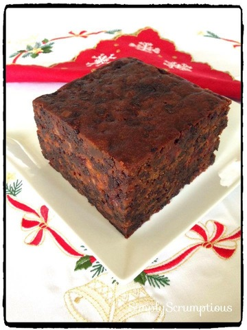 Traditional Aged Christmas Fruit Cake