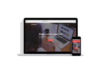 Medium showcase template flat presentation