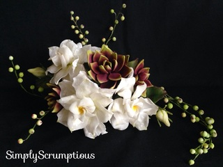 Gardenias, Succulents & String of pearls