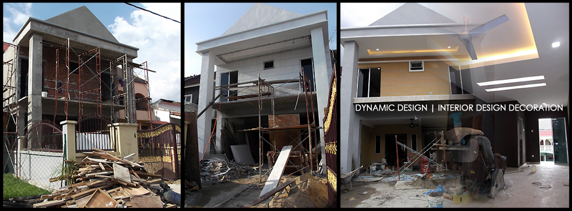 Pengubahsuaian Rumah Teres 2 Tingkat & Architecture And Renovation Contractor by Dynamic Design | Recommend.my