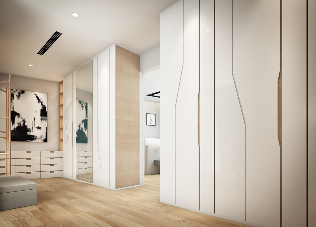 Condo 3D Proposal - 11 Mont Kiara by Hatch Interior Studio Sdn Bhd - Above 2400 sqft Condo / Apartment 3D Design Dining Living Bedroom Kitchen Hallway - Recommend.my