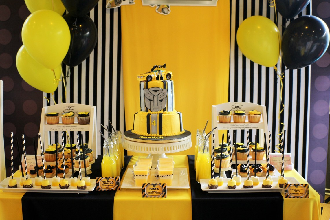 Bumble Bee Transformers Birthday Party By Decor N Beyond