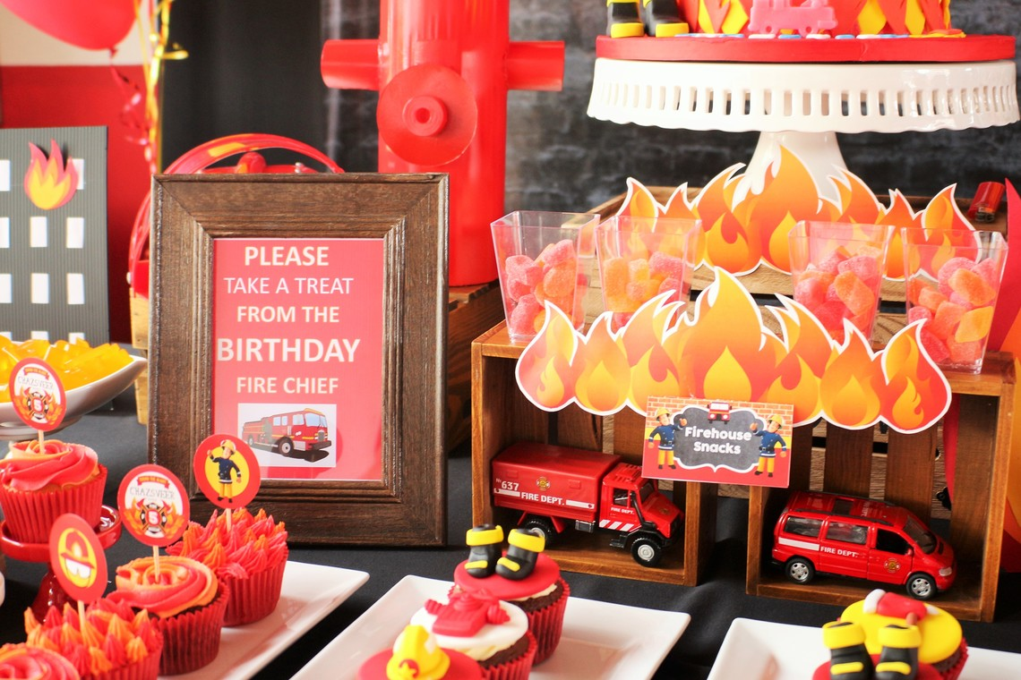 Fireman Sam Birthday Party by Decor N Beyond - Kids Birthday Uniform - Recommend.my