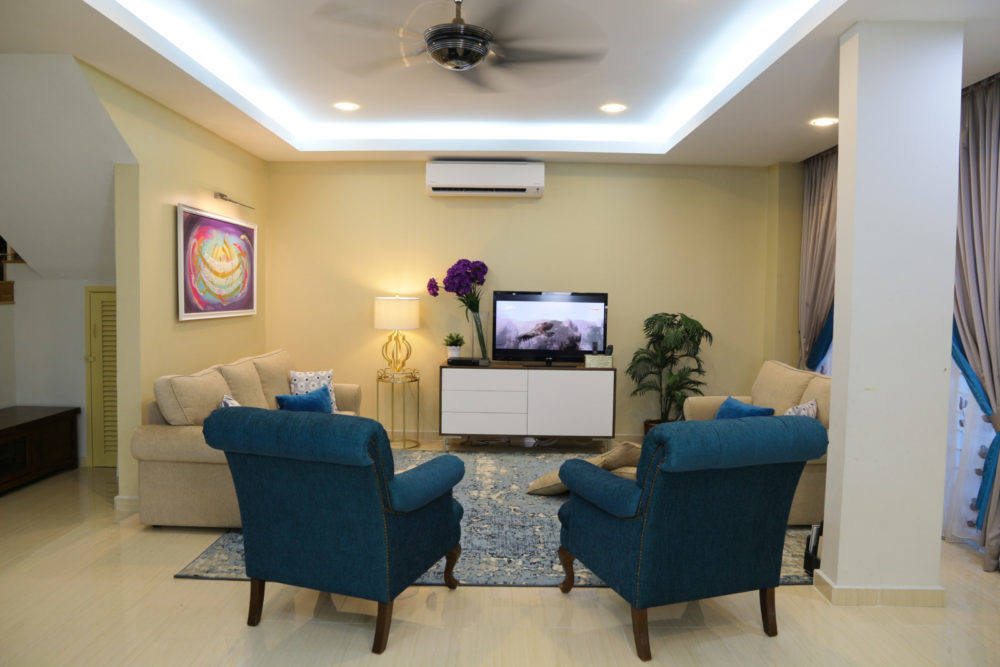 Semi-D, Bandar Baru Bangi by Bonnieblue Furniture & Interiors - Completed Classic Vintage Above 2400 sqft Semi-D / Bungalow Bedroom Dining Living Room Study / Office Wardrobe Furniture Wallpaper Plaster Ceiling Wetworks Flooring Paint Curtain - Recommend.my