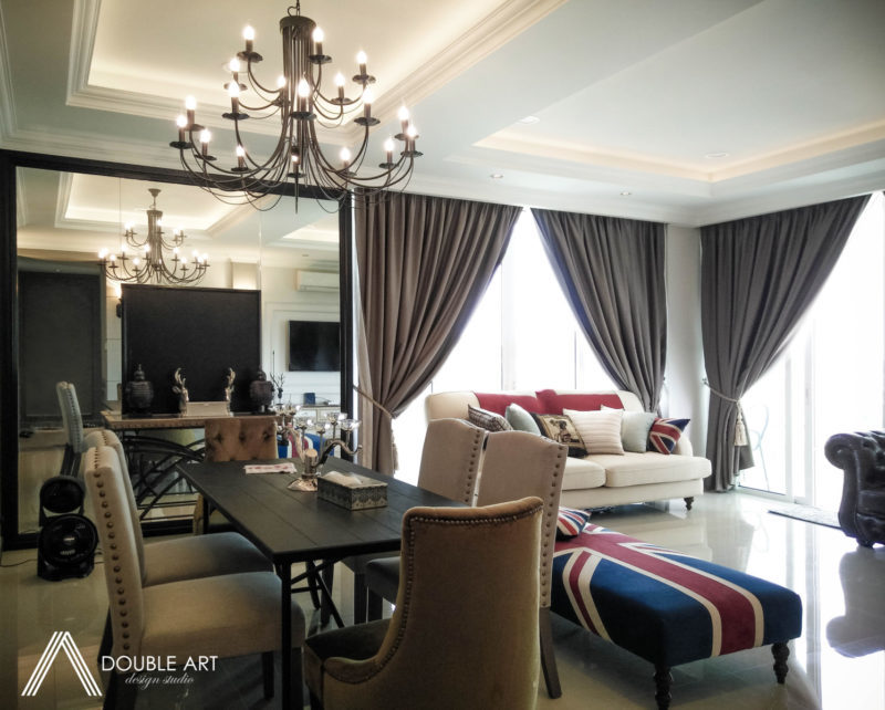 This Modern Condo in Taman OUG Feels Like A Private European Villa by Double Art Design Studio - 1200 - 1800 sqft Completed Condo / Apartment Living Dining Kitchen Hallway Classic Modern Bathroom - Recommend.my