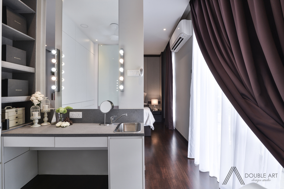 Puchong, Selangor by Double Art Design Studio - Condo / Apartment Above 2400 sqft Modern Contemporary Completed Living Dining Bedroom Study / Office Kids Bedroom Hallway Kitchen Wardrobe - Recommend.my