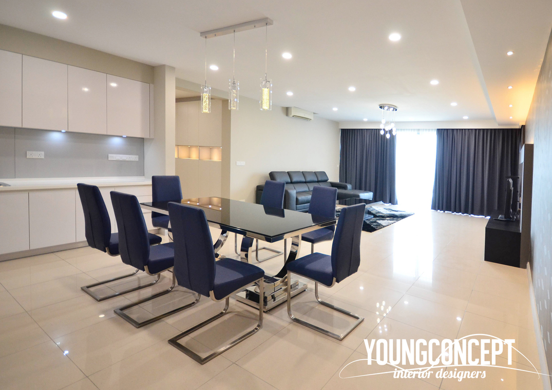 Westside 2, Desa Park City by Young Concept Design Sdn Bhd - Completed 1800 - 2400 sqft Condo / Apartment Modern Dining Hallway Living Living Room TV Cabinet / Console - Recommend.my