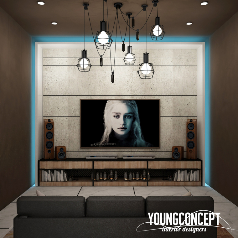 Semi-D, Old Klang Road by Young Concept Design Sdn Bhd - Concept Above 2400 sqft Carpentry Semi-D / Bungalow Kids Bedroom Bedroom Living Living Room Dining Study / Office Bathroom Wardrobe Contemporary Industrial - Recommend.my