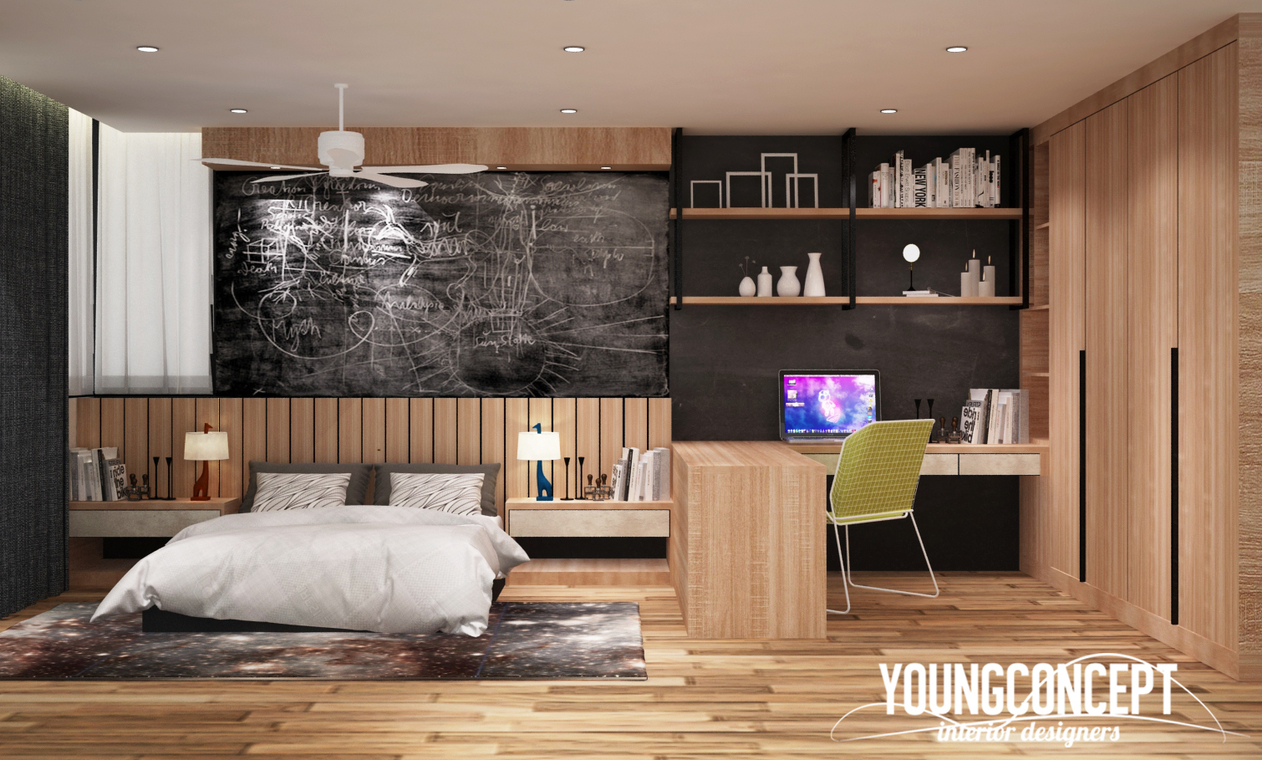 Semi d old klang road by young concept design sdn bhd for Room interior design sdn bhd