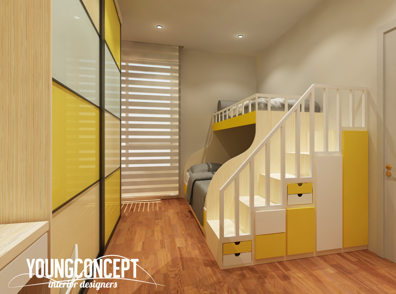 SD Villa, Shah Alam by Young Concept Design Sdn Bhd - Contemporary Above 2400 sqft Semi-D / Bungalow Carpentry Concept Bedroom Kids Bedroom Study / Office Wardrobe Living Living Room Kitchen Kitchen Cabinet Dining Bathroom - Recommend.my