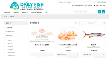 Daily Fish - Ecommerce functionality