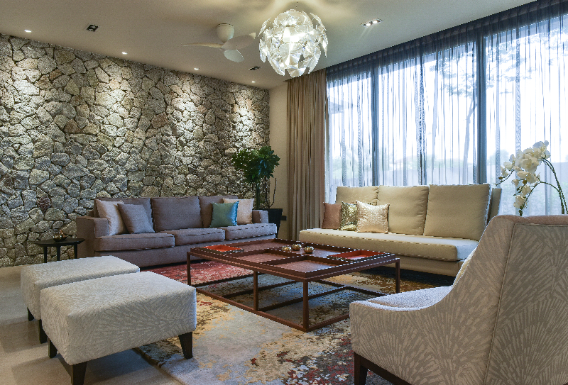 Presint 11, Putrajaya by Senihomes - Curtain Carpentry Wall Decor Living Room Living Dining Kitchen Bathroom Bedroom Kids Bedroom Semi-D / Bungalow Completed Above 2400 sqft Contemporary Sofa - Recommend.my