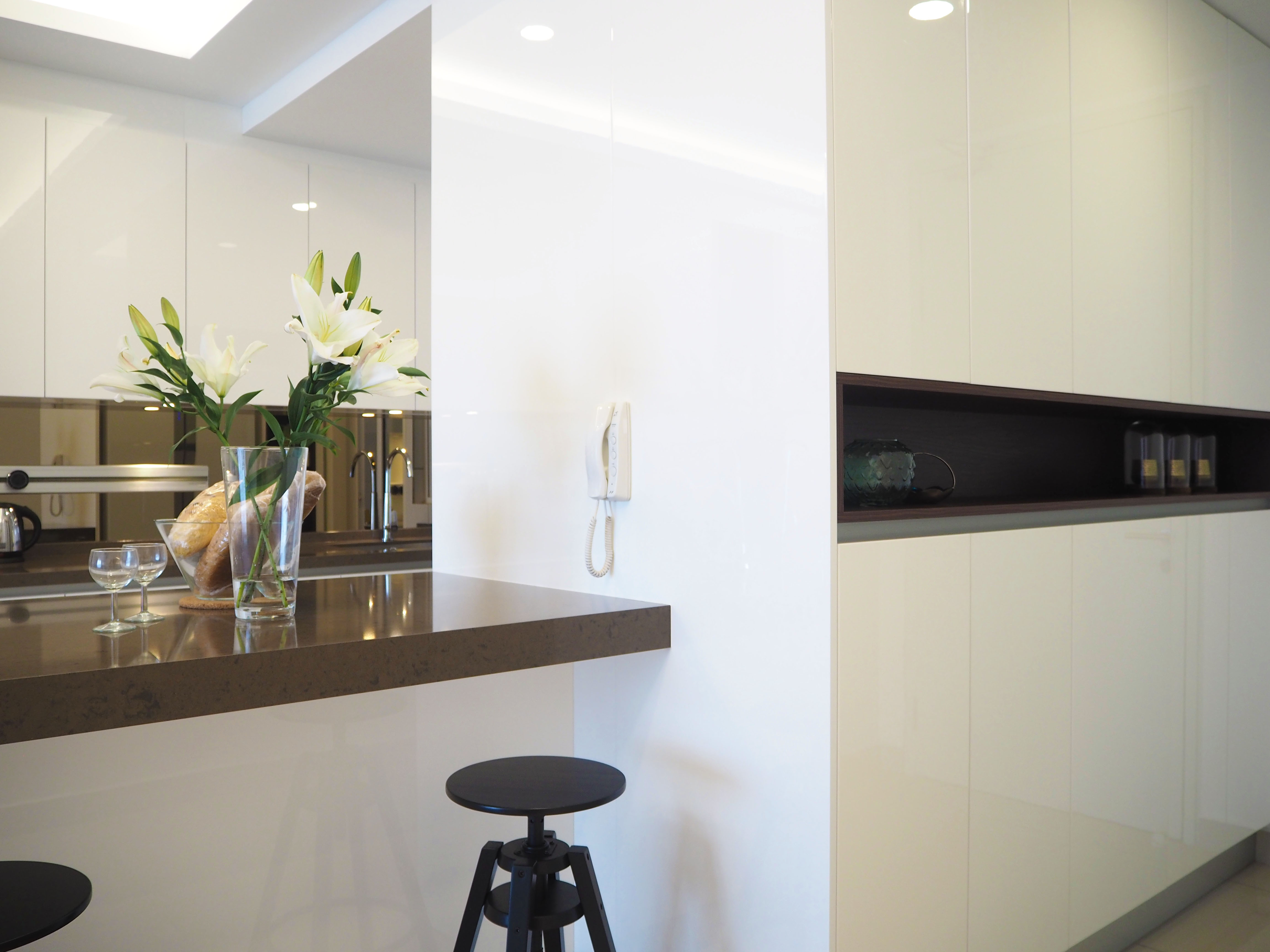 Sleek high gloss kitchen 3
