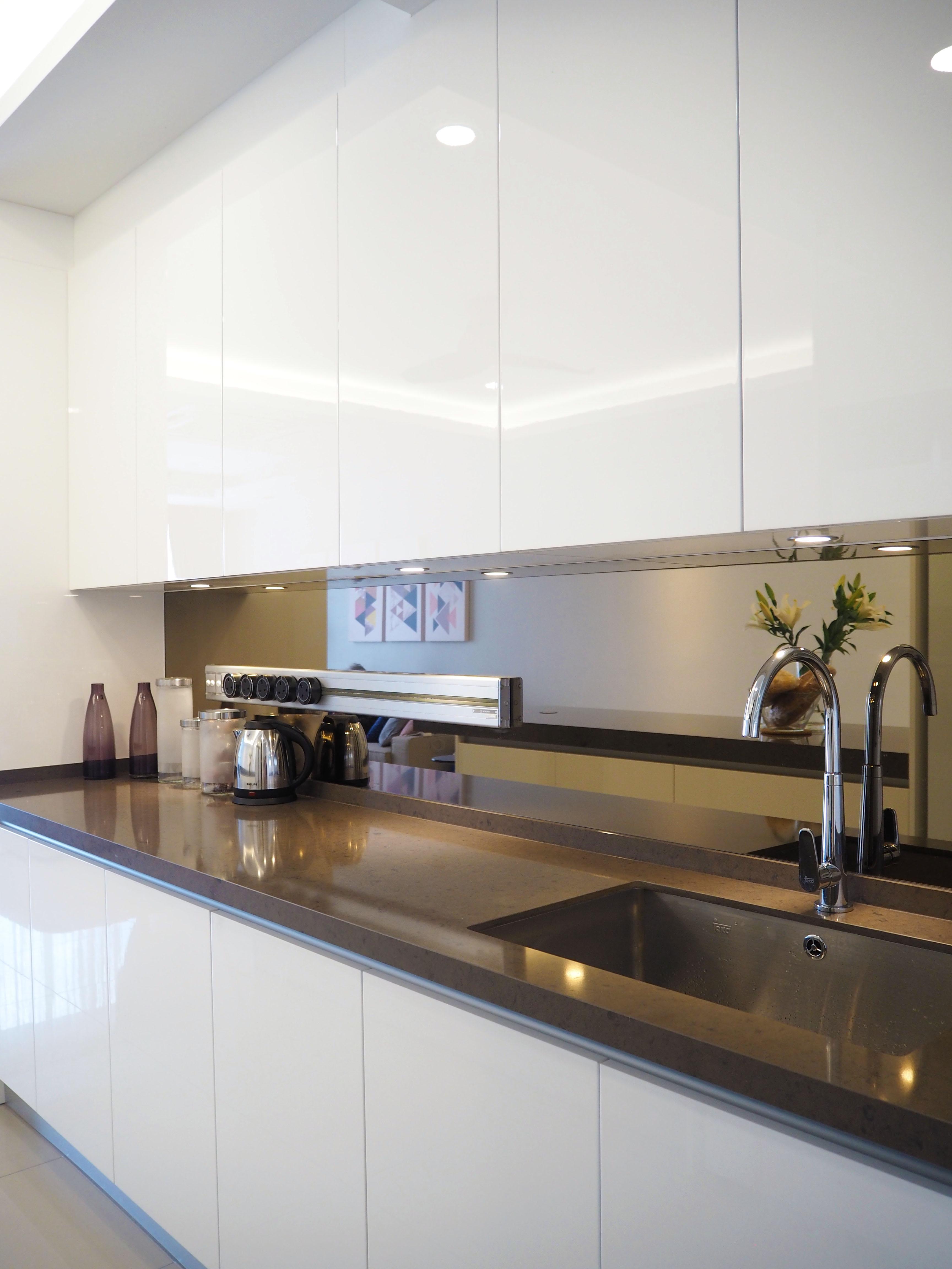 Sleek high gloss kitchen