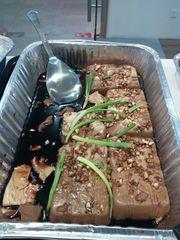 Steamed taufu with garlic soy dressing
